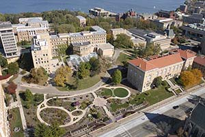 Ariel photo of Birge Hall