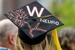 Neurobiology-themed mortarboard-graduation