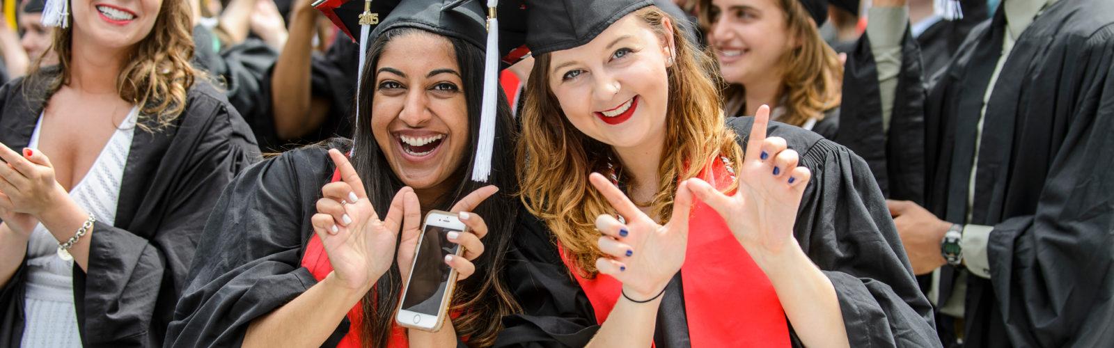 Graduation ceremony photo students